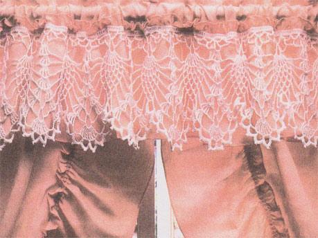 Crochet shawl edges and pillowcase