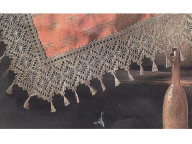 Crochet edge with tassel for shawl and pillowcase