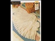 Round crochet shawl