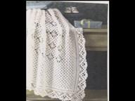 Square crochet shawl called sarah