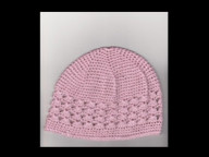 Crochet cap with shell insert