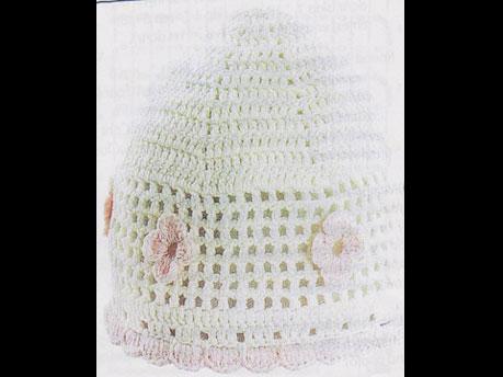 Crochet filet cap