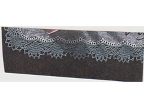Crochet edge for wrap and pillowcase called Indiania