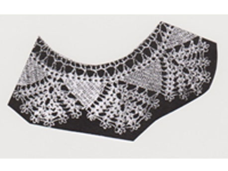 Crochet edge for wrap and pillowcase Called tea lady edge