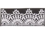 Crochet edge for wrap and pillowcase called Semco 1