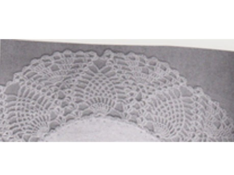 Crochet edge for wrap and pillowcase called No 36