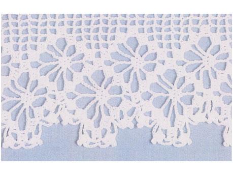 Crochet Shawl edges for wrap and pillowcase