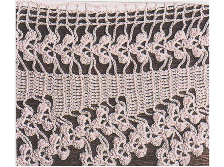 Edge for shawl and pillowcase
