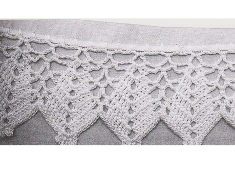 Crochet edges for shawl and pillowcase
