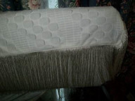 Material middle for wrap and pillowcase with fringing edge