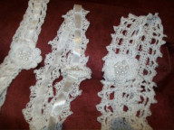 Silk or cotton with flowers and pearls  on the roses