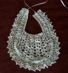 Silk crochet bib