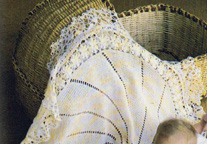 Crochet round shawl.