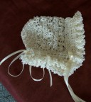Silk frilled bonnet