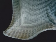 Square hand knitted