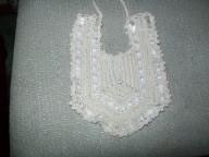 V crochet cotton bib no3