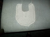Crochet cotton bibs plain V style