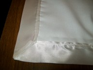 satin bound material shawl