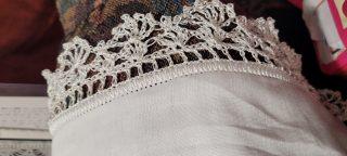 Crochet edge on sick rag